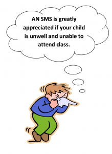 SMS Notice if your child is unwell